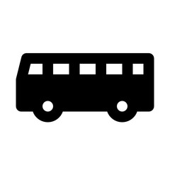 Bus 2 City Town Map Locations vector icon