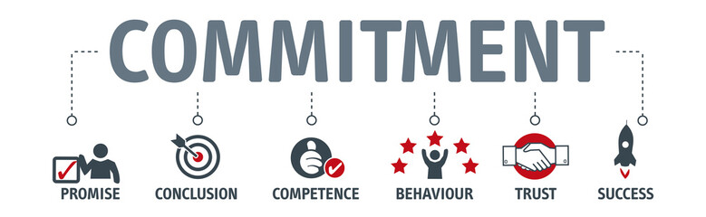 commitment, trust and agreement concept
