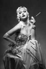 woman retro flapper style