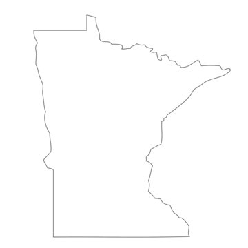 Minnesota - map state of USA