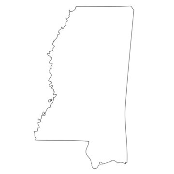 Mississippi - map state of USA