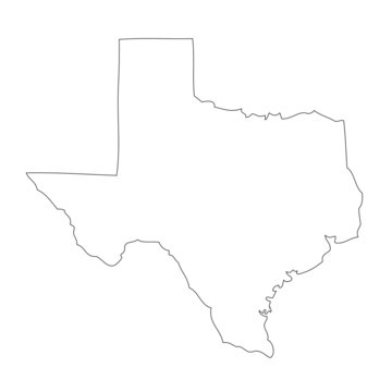 Texas - map state of USA