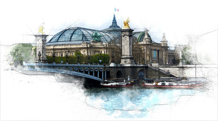 Grand Palais from Alexander the third bridge