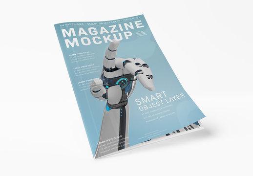 Magazine Cover Mockup on White Background