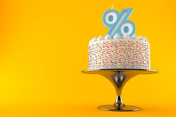 Cake with percent candle
