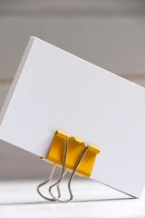 Tarjetas de visita en blanco para insertar logotipo