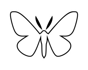 Peppered moth, Biston betularia . Vector icon on white