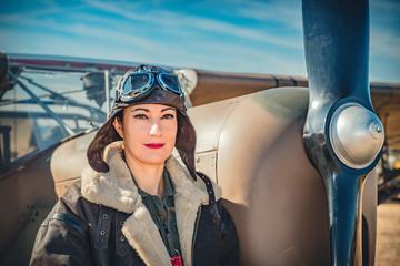 Pinup aviatrice
