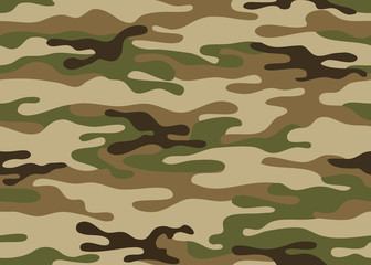 Seamless camouflage pattern. Khaki texture, vector illustration military repeats army green hunting