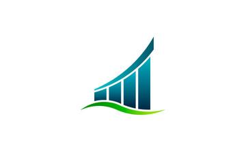 Positive Result Finance Bar Vector illustration