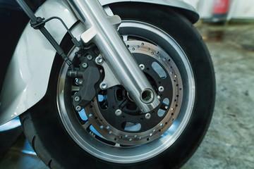 Vorderrad eines Motorrades