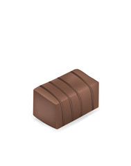 Chocolate cube. vector illustration
