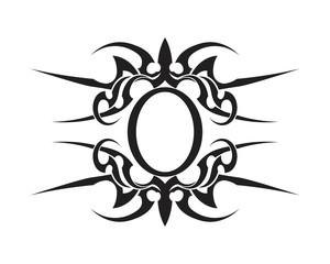 tribal tatto collection set  flame tatoo totem Vector Illustration design