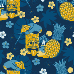 Retro Hawaii seamless pattern