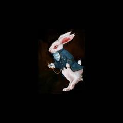 Gouache White rabbit