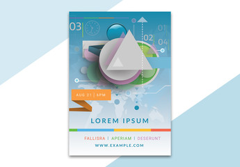 Poster Layout with Geometric Elements