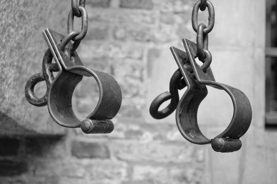 I have a dream. The end of slavery. Symbol of slavery-shackles