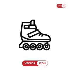 Roller skate vector icon