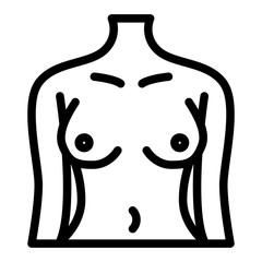 Perfect woman body line icon. Female figure vector illustration isolated on white. Slim girl outline style design, designed for web and app. Eps 10.