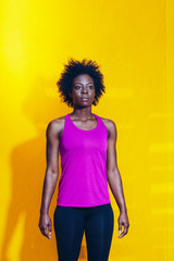Fitness Portrait of Black Woman