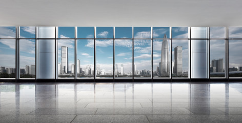 Fotomurales - cityscape outside of window