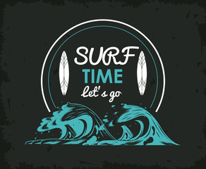 Tropical surfing lifestyle theme