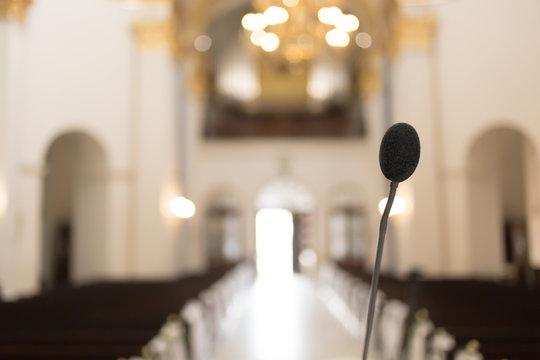 microphone in church