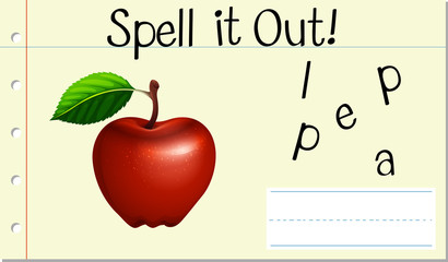 Spell English word apple