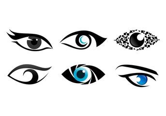 Set of eye colection logo