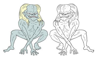 Imaginative alien illustration