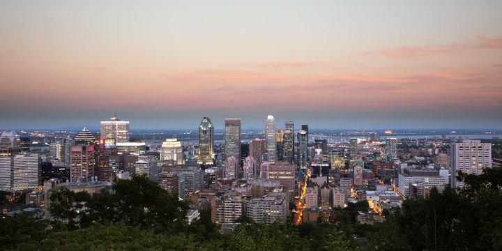 Montreal Panorama - Sunset - Mont Royal