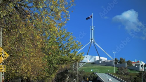 View of Australian parliament house in Canberra Australia
