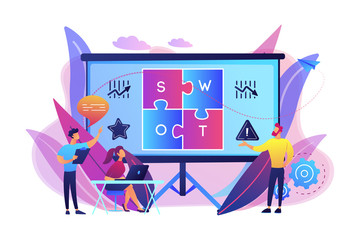 SWOT analysis concept vector illustration.