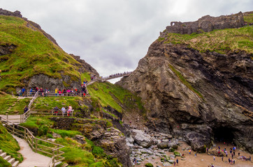 Tintagel Castle in Cornwall - a famous landmark in England