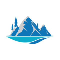 Mountain logo icon design template vector