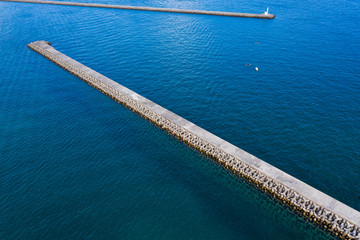 Top view of the breakwater
