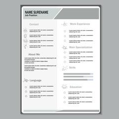 Modern cv resume template vector
