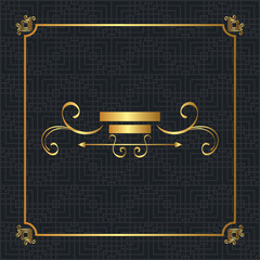 elegant golden frame icon