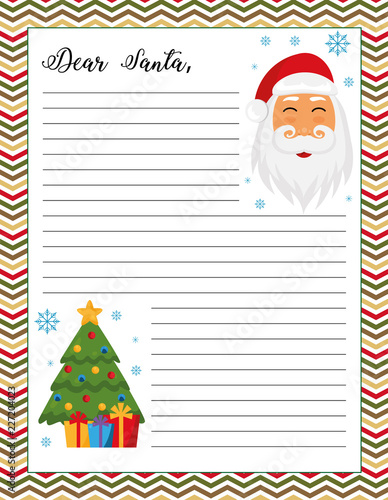 image relating to Letters to Santa Templates Free Printable titled Letter in the direction of Santa template, printable web page. Xmas tree