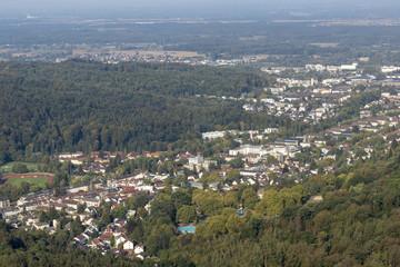 Blick auf die Stadt Baden-Baden