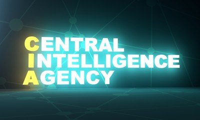 Acronym CIA - Central Intelligence Agency. 3D rendering. USA administrative concept illustration