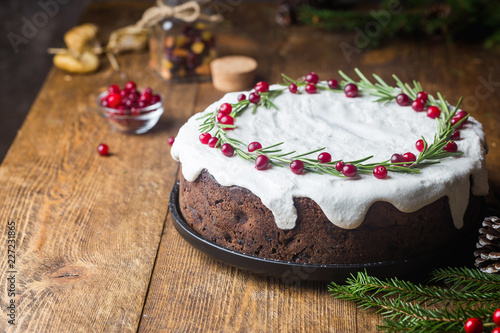 Traditional Christmas Cake Stock Photo And Royalty Free Images On