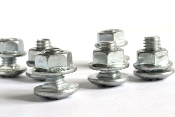 Bolts on white