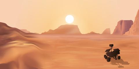 Sonde d'exploration sur la planète mars à la recherche de la vie extraterrestre