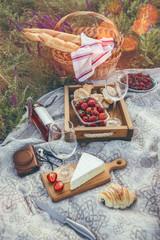 Autocollant pour porte Pique-nique Picnic in the meadow