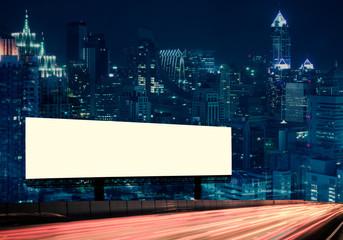 Billboard street on light trails