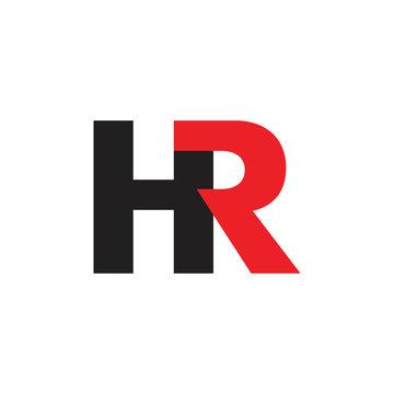 letters hr linked logo vector