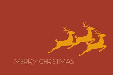 Weihnachtskarte mit goldenen Rentieren