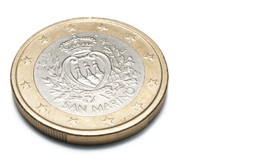 San Marino one euro coin isolated