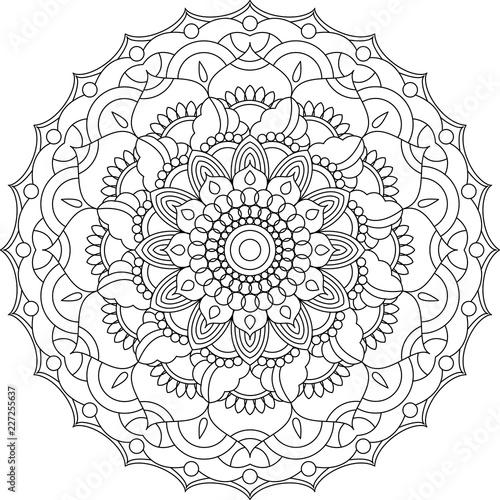 Mandala Coloring Page Adult Coloring Relax Meditation